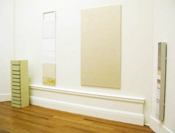 """""""Presence"""" 2008-2009 size of the central piece: canvas 219 x 121 cm (a body of four works presented at the """"New Contemporaries 2009"""" in the Royal Scottish Academy in Edinburgh)"""