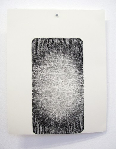 """""""Cut"""" 2009 (relief print directly from chopping-board) 28 x 22 cm"""