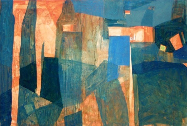 """Red gate"" 2006 (oil paints on board. 87 x 117 cm)"