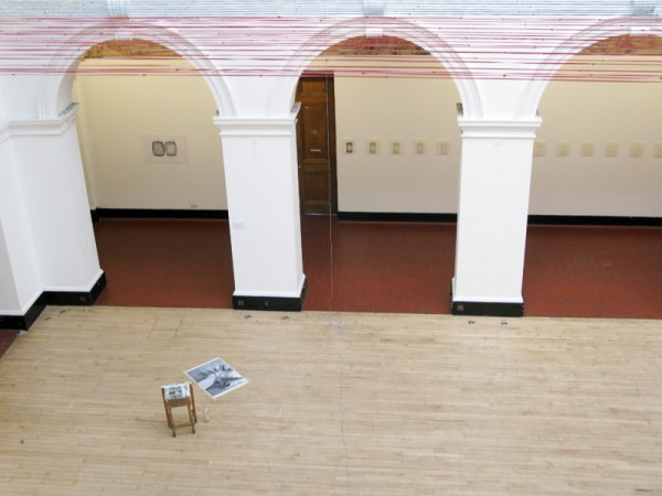 """""""Cut"""" (view of the installation from a distance)"""