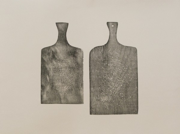 """""""Torsos"""" 2009 (relief print from two chopping-boards. 56 x 76 cm  presented at the Northern Print Biennial 2009 in Newcastle )"""