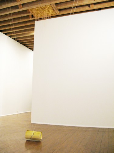 """""""Yellow pages"""" installation view"""