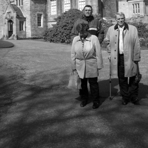 """untitled photographs printed onto the windmills for the """"Tilt at windmills"""" installation all photographs depict my family and were taken at the Lauriston Castle grounds in April 2006"""