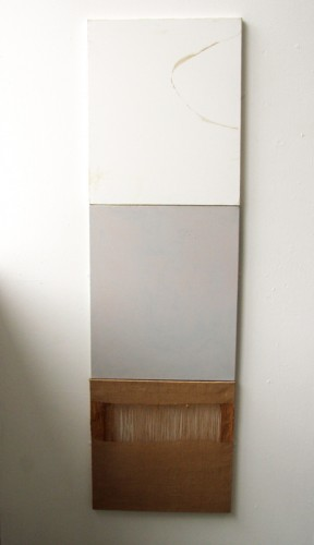 """""""Presence"""" 2008: painting consisting of three sections. 173 x 51 cm in total (presented at the Edinburgh College of Art degree show 2008)"""