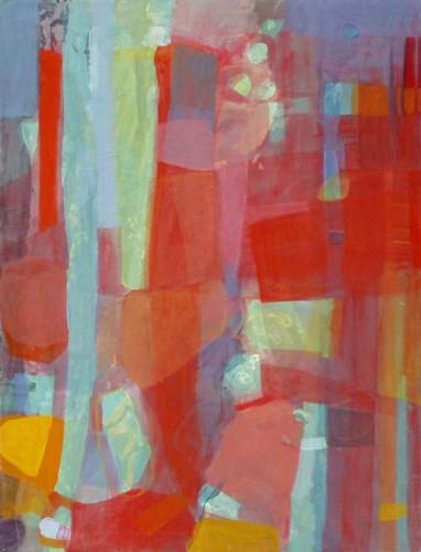 """""""Water bubbles"""" (acrylics and oil paints on board. approx. 54 x 106 cm)"""
