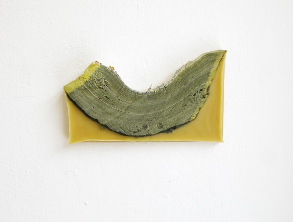 """""""Boat"""" 2011 (Beeswax and sliced phone book. 13 x 22 x 3 cm)"""