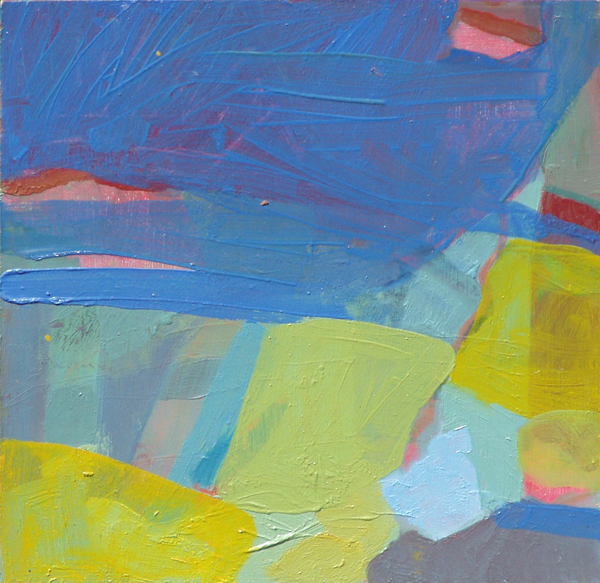 """Blue landscape"" 2006 (oil paints on board. 30 x 30 cm)"