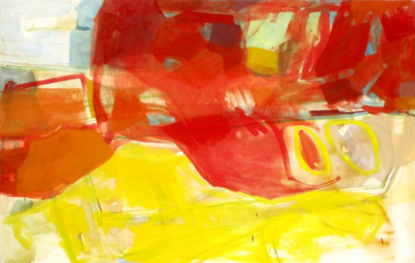 """""Yellow mountain"" 2007 (oil paints on canvas. 107 x 163 cm"" 2007 (oil paints on canvas. 107 x 163 cm))"
