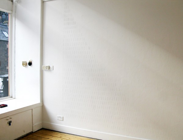 """""""Wing"""" 2011 (Wall intervention, approx. 280 x 280 cm)"""