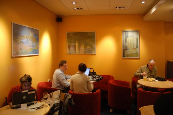 view of the exhibition at the Filmhouse cafe/bar in Edinburgh 2008